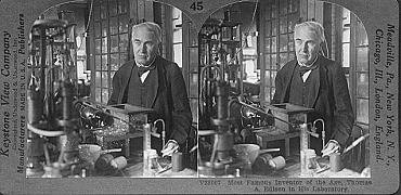 V28007 Most Famous Inventor of the Age, Thomas A. Edison in his Laboratory