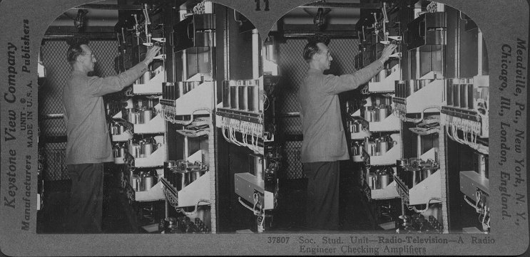 A Radio Engineer Checking Amplifiers