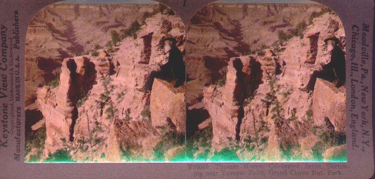 Thomas Moran Sketching in The Grand Canyon
