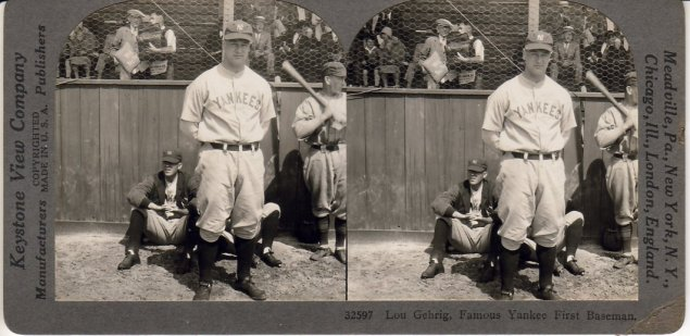 Lou Gehrig, Famous Yankee First Baseman