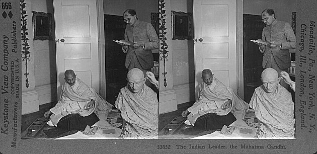 The Indian Leader, the Mahatma Gandhi